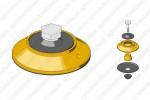 Диафрагма турбо-корректора с корпусом в сборе (с буртиком) 09078 Spaco Diesel