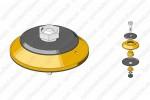 Диафрагма турбо-корректора с корпусом в сборе (без буртика) 11-04-207 OMS